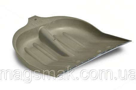 Лопата для снега пластиковая, с металлической планкой, Украина 320х420 мм, малая, фото 2
