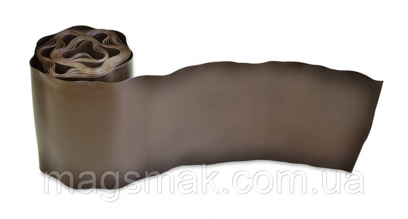 Бордюр газонный (коричневый) 10 см х 9 м, фото 2