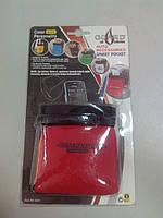 Автомобильная подставка карман под телефон АК0201 ткань красная
