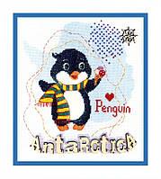 """ВТ-180 набор для вышивки крестиком Crystal Art """"Детский мир. Антарктика""""."""