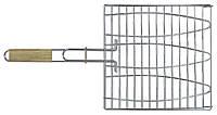 Решетка-гриль для рыбы 28х28 см, с ручкой дерево, 55 см