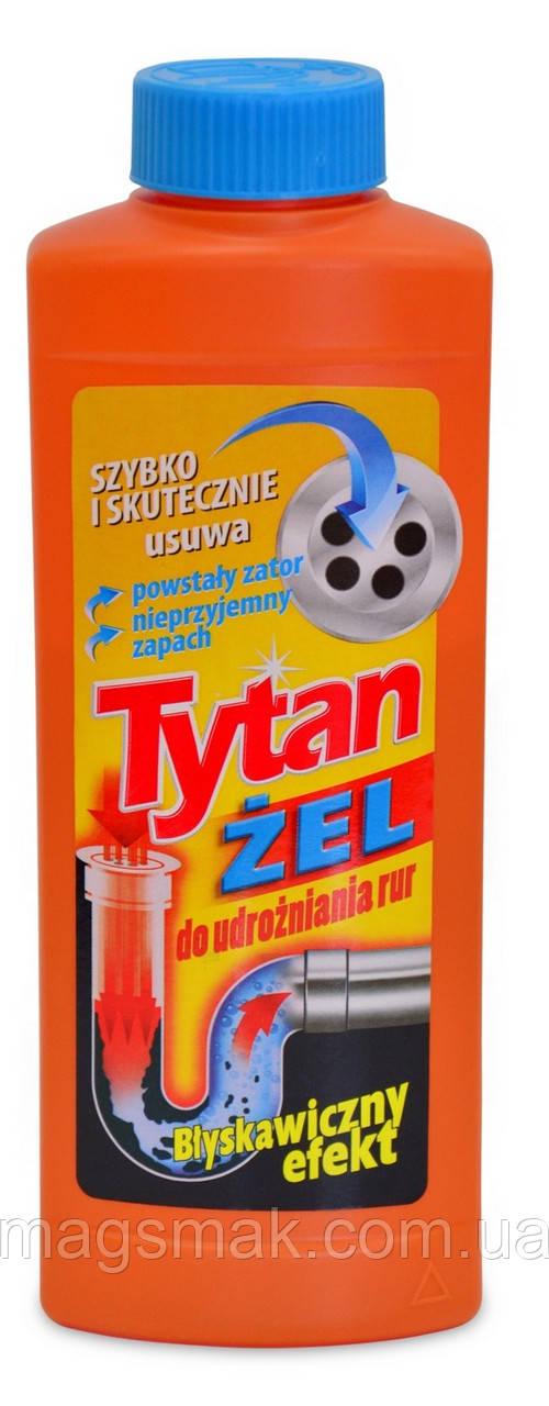 Средство для прочистки труб, Titan гель, 0,5 л