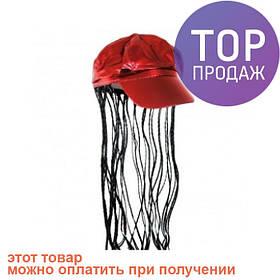 Кепка женская с косичками (красная) / аксессуары для волос