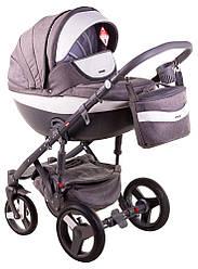 Детская коляска универсальная 2 в 1 Adamex Monte Deluxe Carbon D3 (Адамекс Монте, Польша)