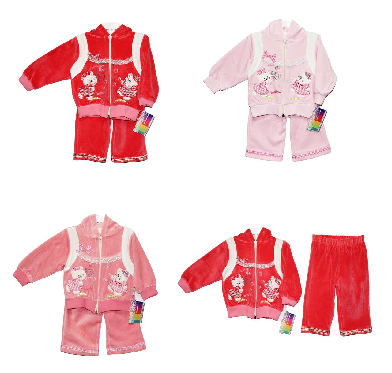 Дитячі костюми велюровий для дівчинки Bobisko 823