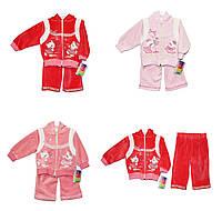 Дитячі костюми велюровий для дівчинки Bobisko 823, фото 1