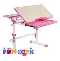 Растущая парта-трансформер 80х60 см для детей 4 - 13 лет ТМ FunDesk Голубой Lavoro L Pink