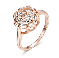 Позолоченное кольцо Роза р 17 18 код 1250