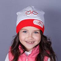 Головной убор для девочек Нарядная вязаная шапка Осень City Style 1509+ Китай