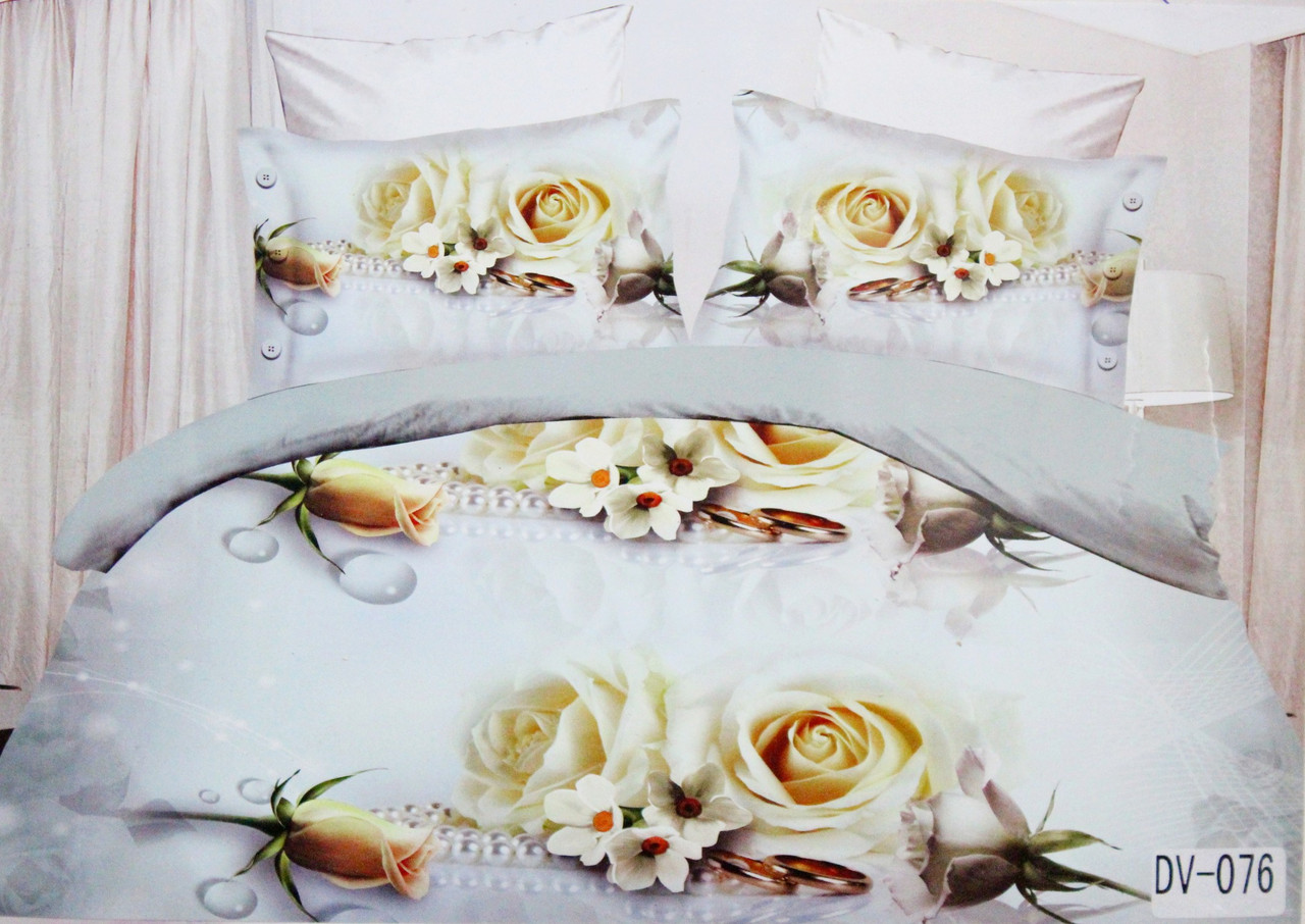Комплект постельного белья Florida 5D Sateen DV-076 Евро размер оптом и в розницу