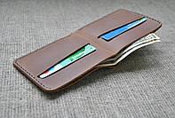 Маленький кошелек коричневого цвета из натуральной кожи ручной работы