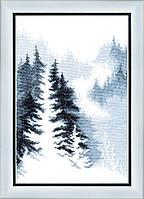 ВТ-158 Набор для вышивания крестом Crystal Art Зимний лес