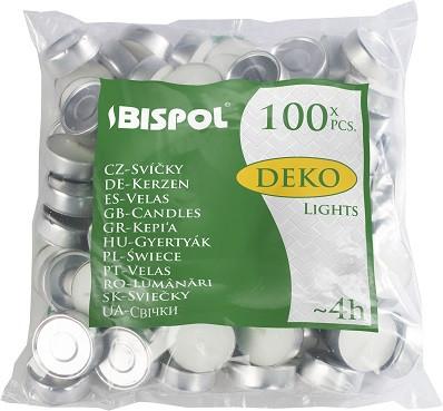 Свечи чайные Bispol Deko Tealights 1,35 см 100 шт (p10-100) (5906927100104)