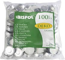Свечи чайные Bispol Deko Tealights 1,35 см 100 шт (p10-100)
