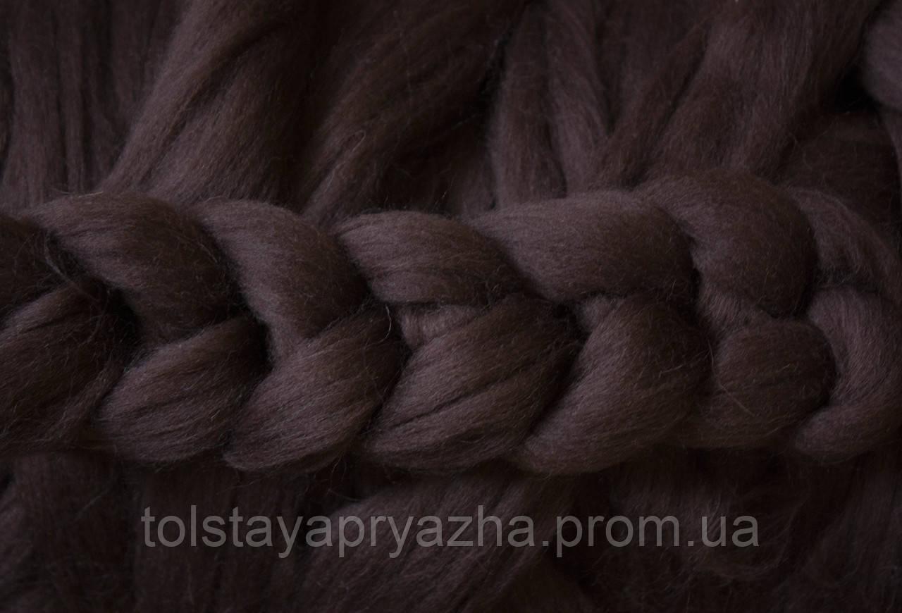 Вовна для пледа (товста пряжа) серія Крос, колір кора дуба