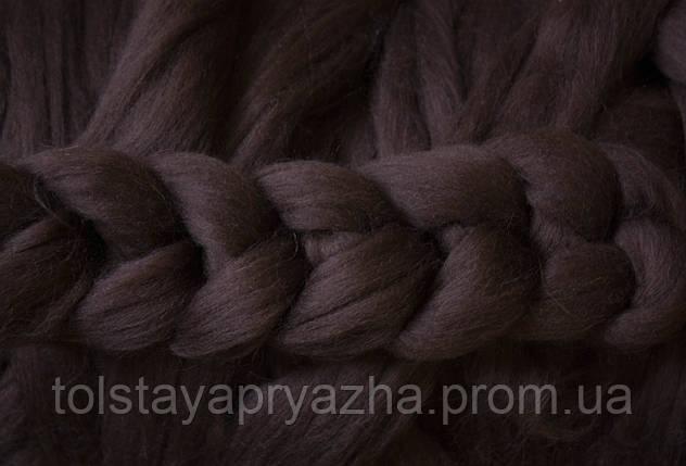 Вовна для пледа (товста пряжа) серія Крос, колір кора дуба, фото 2