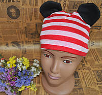 Детская шапочка Микки с ушками от 6 мес до 2 лет.