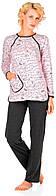 Піжама Жіноча Barwa зі штанами Слова на рожевому 0090/142