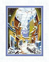ВТ-162 Набор для вышивания крестом Crystal Art Зимний дворик