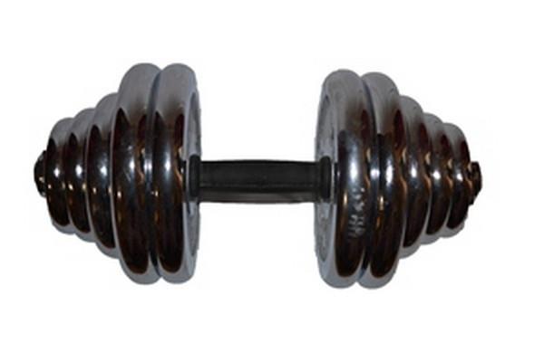 Гантель сборная хромированная YORK 30 кг. 1 шт
