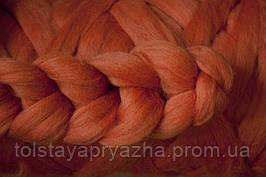 Шерсть для пледа (толстая пряжа) серия Кросс, цвет лиса
