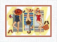 ВТ-164 Набор для вышивания крестом Crystal Art Отдых у моря