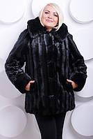 Шуба женская искусственная №214 черная, фото 1
