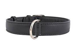 Ошейник кожаный без украшений Collar Гламур 18-21 см 9 мм
