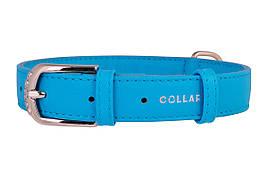 Ошейник кожаный без украшений Collar Гламур 19-25 см 9 мм