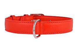 Ошейник кожаный без украшений Collar Гламур 21-29 см 12 мм