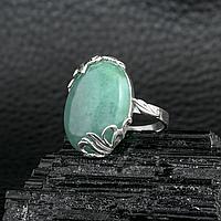 Нефрит, серебро 925, кольцо, 604КН
