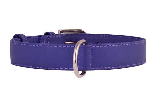 Ошейник кожаный без украшений Collar Гламур 46-60 см 35 мм