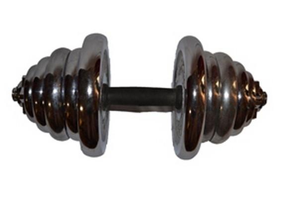 Гантель сборная хромированная YORK 25 кг. 1 шт