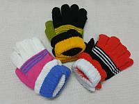 Детские перчатки шерстяные с подворотом