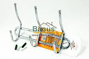 Вешалка настенная хромированная (3 крючка) Stenson (MH-0204)