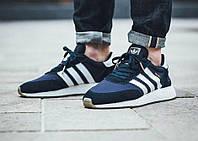 Мужские кроссовки Adidas Iniki Runner Boost Navy (ТОП РЕПЛИКА ААА+)