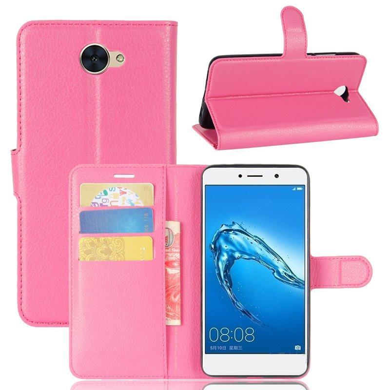 Чехол Huawei Y7 2017 / Nova Lite Plus / Ascend XT2 книжка PU-Кожа розовый