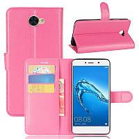 Чехол Huawei Y7 2017 / Nova Lite Plus / Ascend XT2 книжка PU-Кожа розовый, фото 1