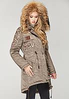 Куртка парка женская зимняя с мехом в 7ми цветах К-7/1+