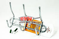 Настенный держатель (вешалка) для полотенец (3 крючка) Stenson MH-0204