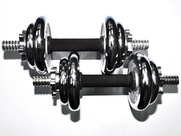Гантель хромированная сборная YORK 6 кг. 2 шт
