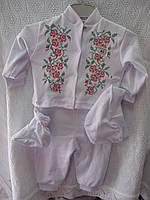 """Набор для малыша """"Розы""""р.62-68"""
