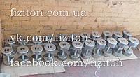 Оцинкованный профессиональный гантельный ряд 12 - 30 кг, шаг 2 кг, 420 кг , фото 1