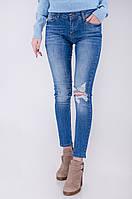 Стильные женские синие джинсы