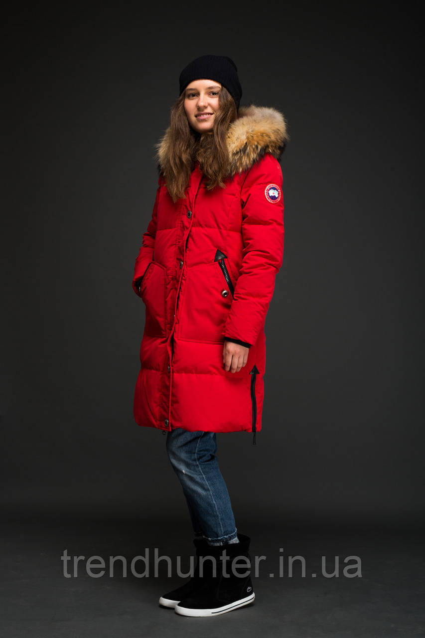Женский пуховик Canada Goose красный, цена 6 500 грн., купить в ... 0cf4965ddff