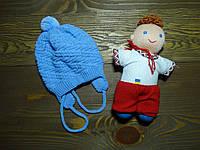 """Шапка для новорожденных """"Масик"""" голубая для мальчика р.36-38"""