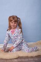 """Пижама для девочек """"Капелька"""",начес набивной,р.26,28,30,32,34"""