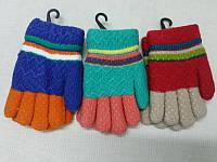 Детские перчатки зимние с мехом