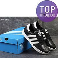 Мужские кроссовки Adidas Beckenbauer Allround, черно-белые / кроссовки мужские Адидас, кожаные, стильные