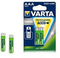 Аккумулятор Varta Phone Accu AAA/HR03 NI-MH 550 mAh BL 2шт